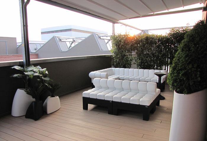 Loft bicocca con terrazza for Arredi terrazzi design